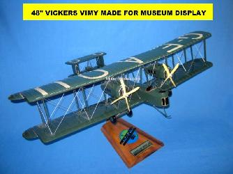 Vickers-Vimy with 48 inch wing span