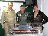Our USS Nimitz model shown in the Nimitz wardroom prior to presentation to Nimitz CO - Captain Bob Gillman