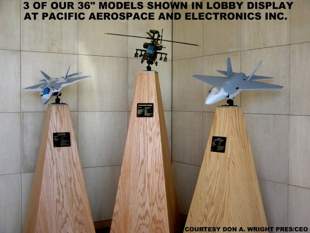 Pacific Aerospace & Electronics lobby display