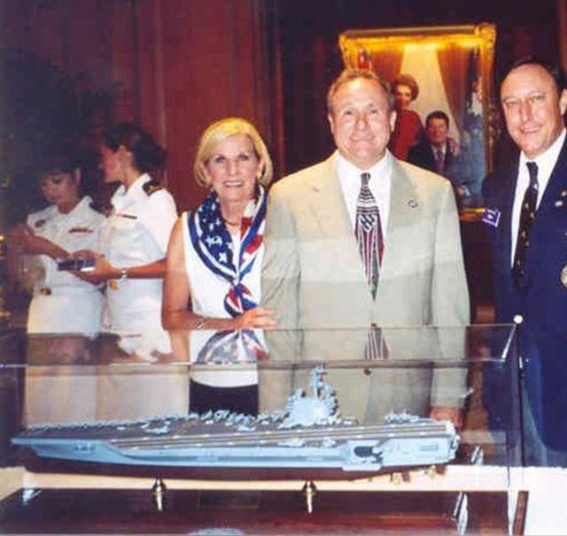 Mr. Michael Reagan dedicating our model in the Reagan Room of the Jonathan Yacht Club