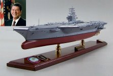Our model of the USS Ronald Reagan CVN-76