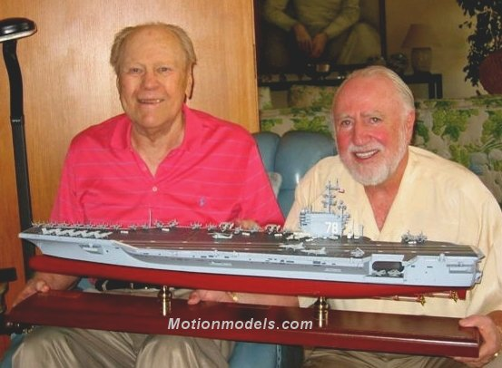 President Ford with the future CVN-78