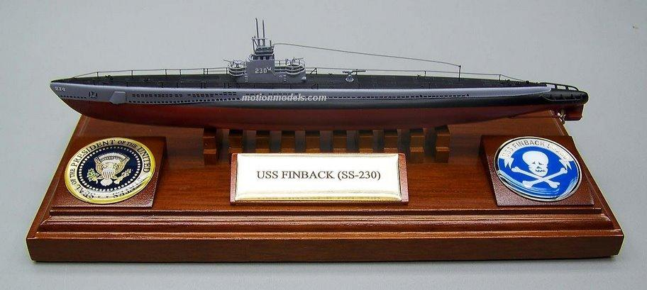 SS230 USS Finback - specially made for President George Bush exhibit